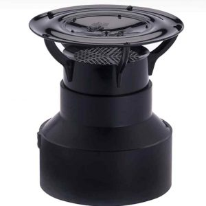 Black Siphon Stack Mount for 3 or 4 Inch Pipes