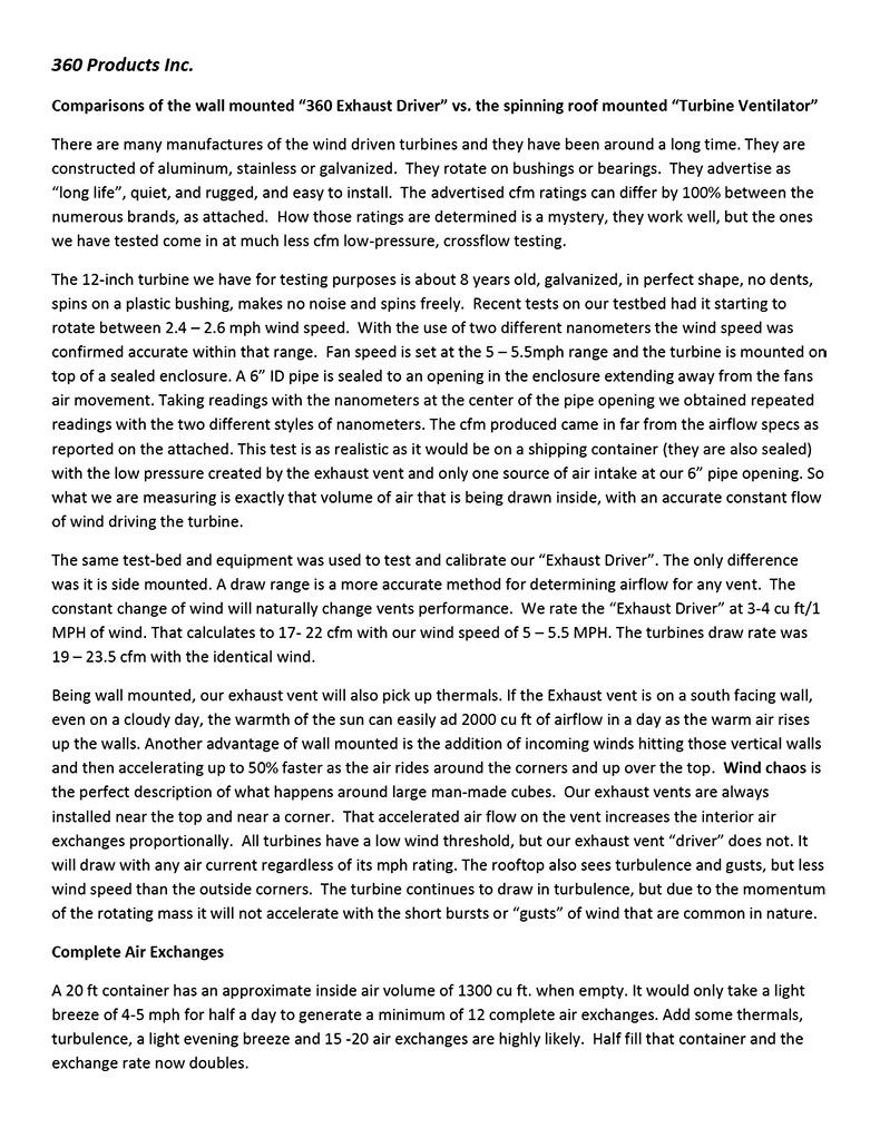 Turbine airflow comparisons pdf